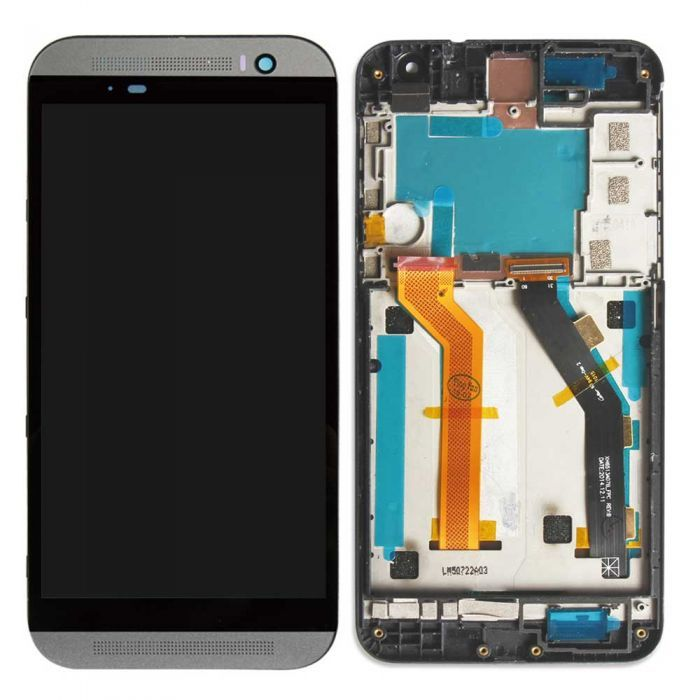 HTC One E9 Plus LCD Assembly w/Frame - Black