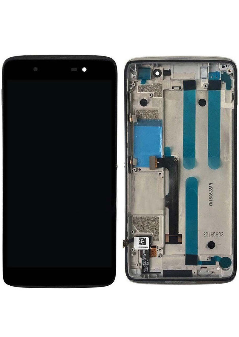 Alcatel One Touch Idol 4 6055 LCD Assembly w/Frame - Black