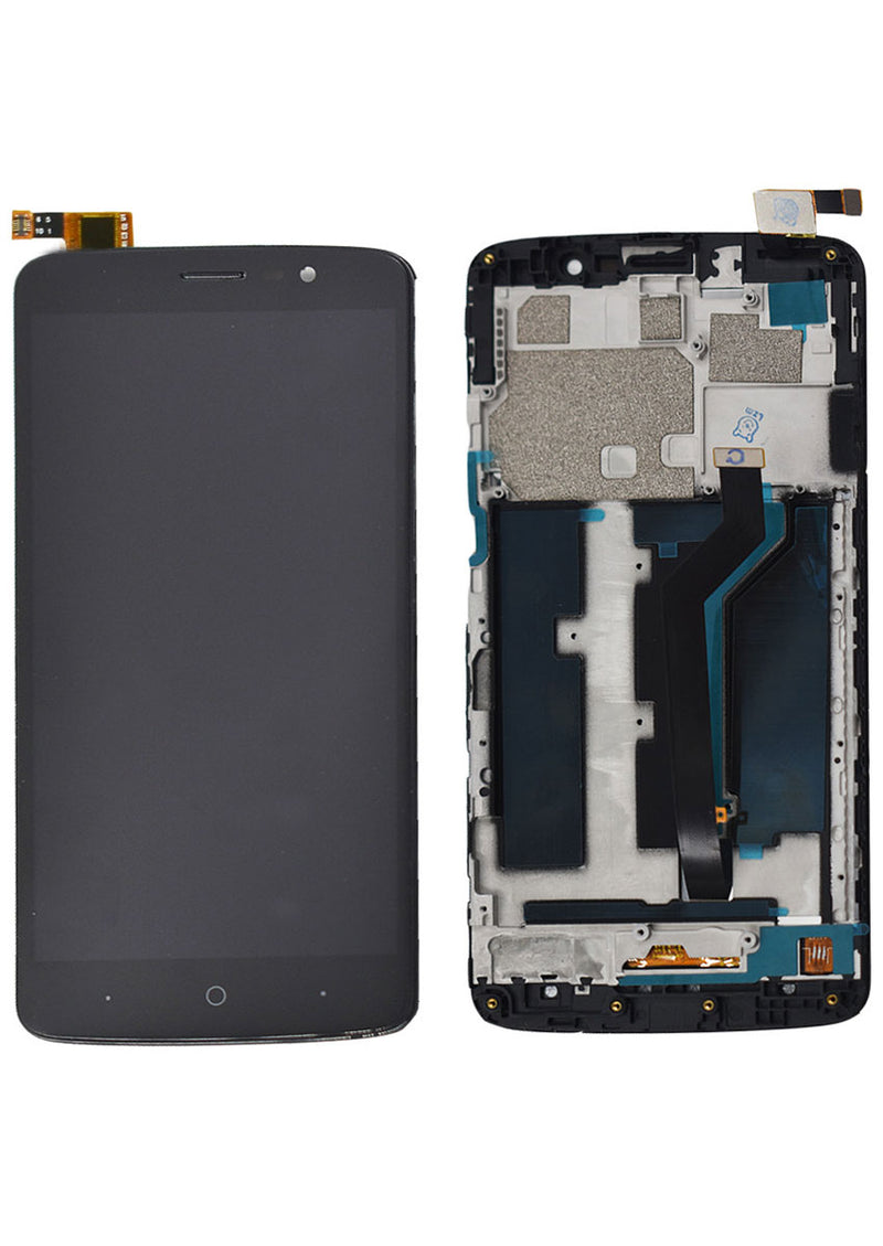 ZTE MAX XL N9560 LCD Assembly w/Frame - Black