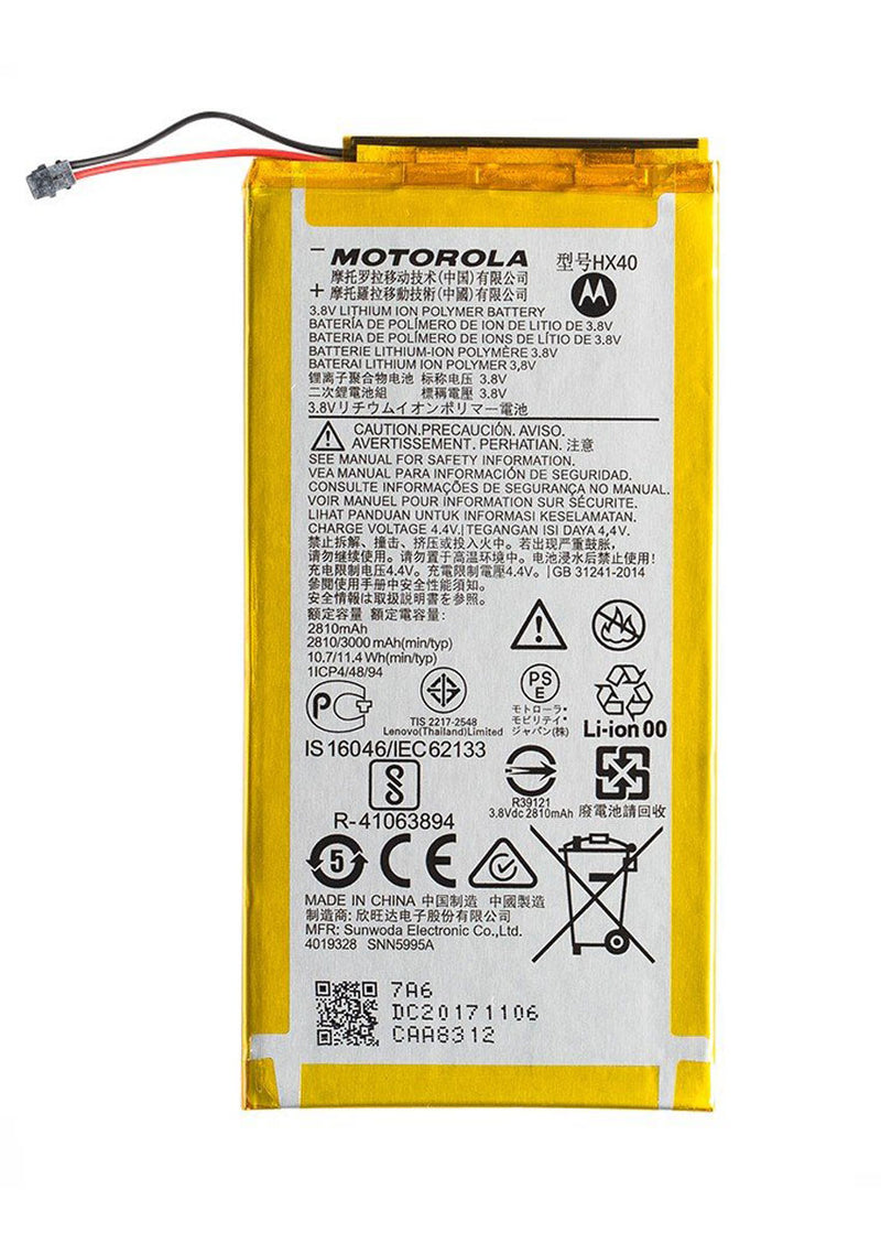 Replacement Battery for Motorola Moto X4 XT1900 (HX40)