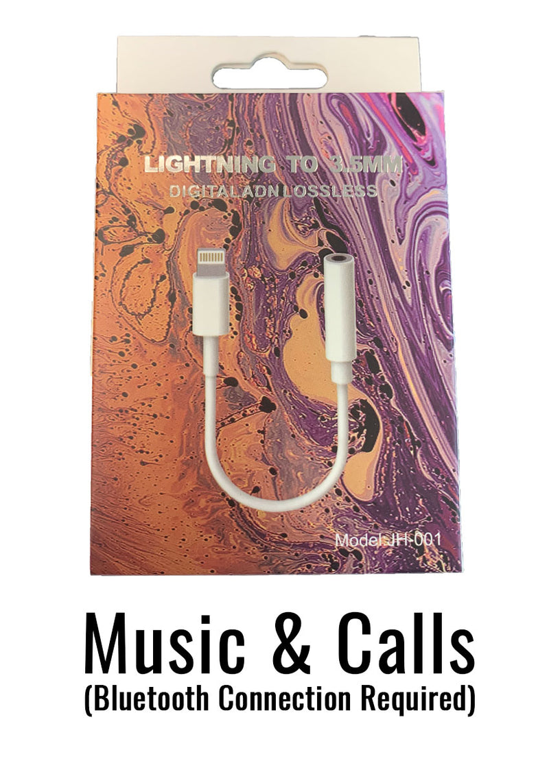 Lightning to 3.5mm Adapter for iPhone - Music & Calls (Bluetooth)