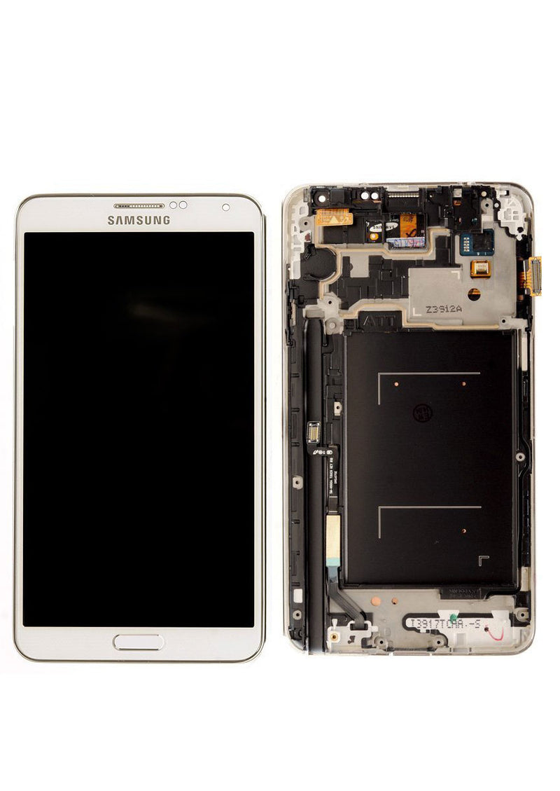 Samsung Note 3 LCD Replacement w/Frame  - White (N900A/N900T)
