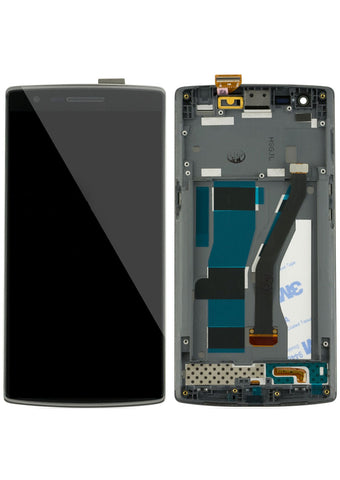 OnePlus One (A0001) LCD Assembly w/Frame - Black