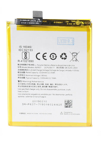 Replacement Battery for OnePlus 5 / 5T (BLP637)