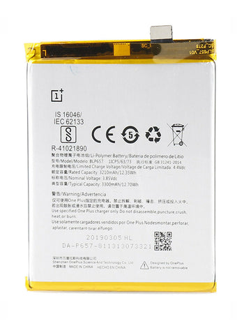 Replacement Battery for OnePlus 6 (BLP657)