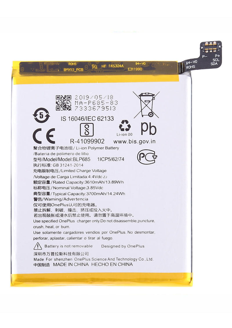 Replacement Battery for OnePlus 6T(BLP685)