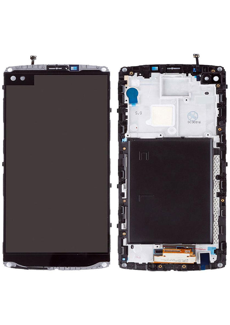 LG V10 LCD Assembly w/Frame - Black