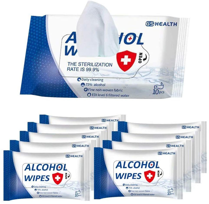 GS Health 75% Alcohol Wipes