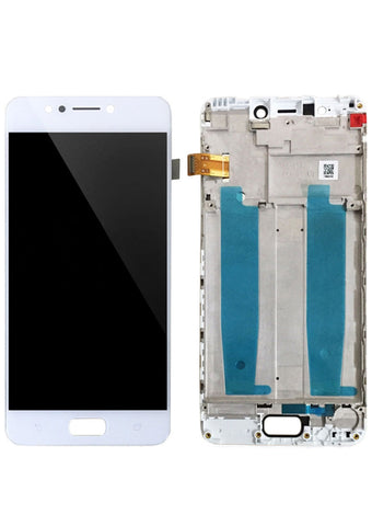 Asus ZenFone 4 Max (ZC520KL) LCD Assembly w/Frame - White