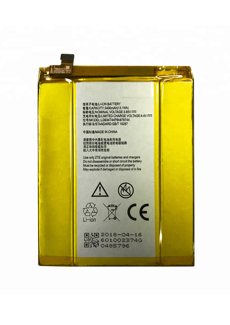 Replacement Battery for ZTE ZMax Pro / Grand X Max 2 / Blade X Max / Imperial Max (Li3934T44P8H876744)