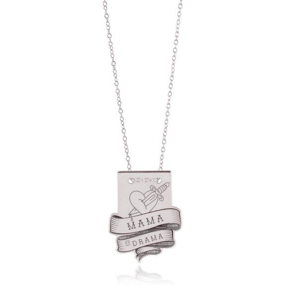 Mama of Drama Silver Necklace
