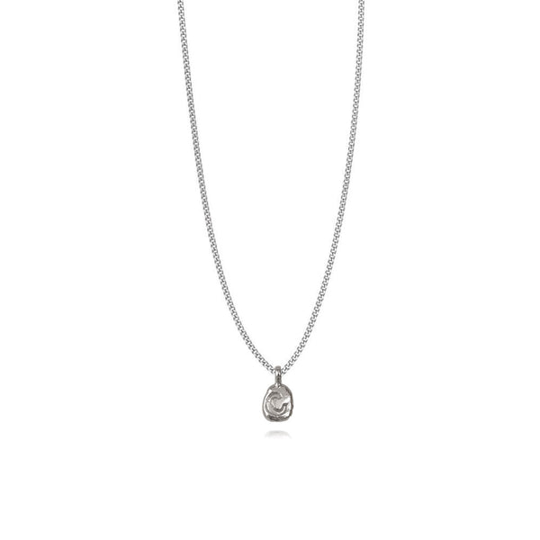 Zoe C Silver Necklace