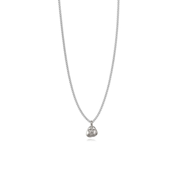 Zoe H Silver Necklace