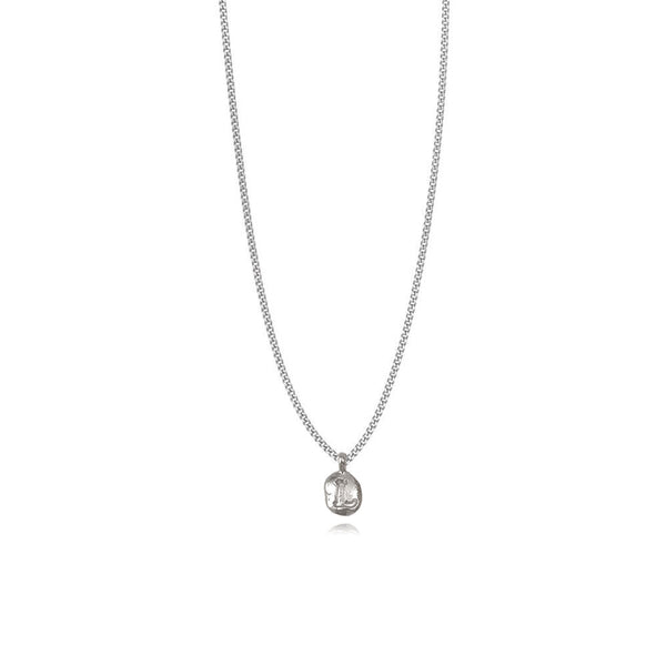 Zoe L Silver Necklace