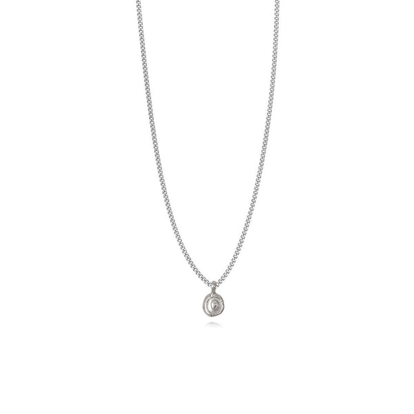 Zoe O Silver Necklace