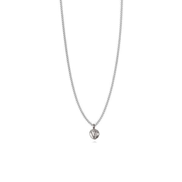 Zoe V Silver Necklace