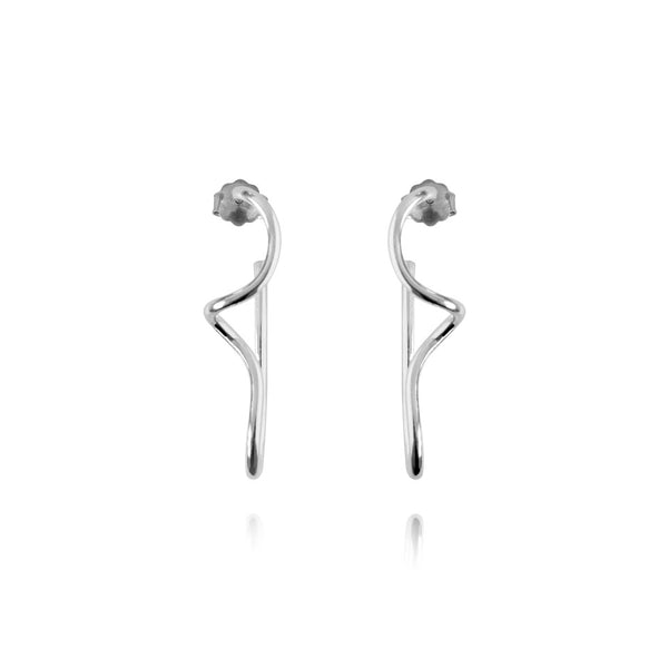 Ella Silver Earrings