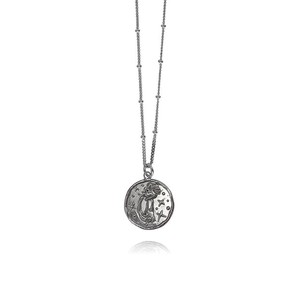 Luna Silver Necklace Aquarius