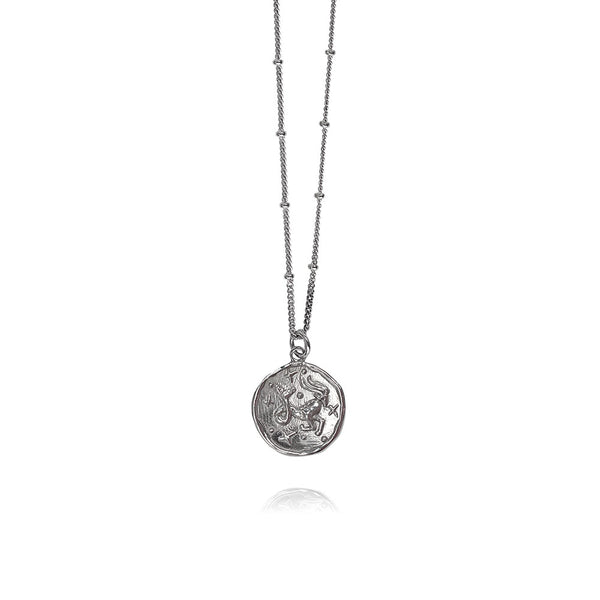 Luna Silver Necklace Capricorn