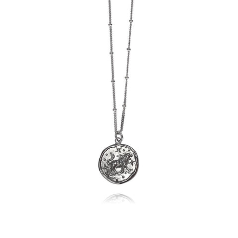 Luna Silver Necklace Leo