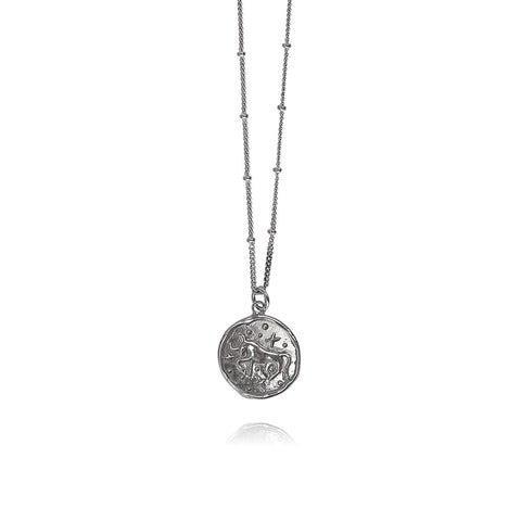 Luna Silver Necklace Taurus