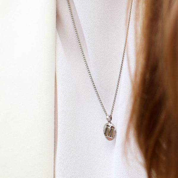 Zoe M Silver Necklace