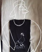 Load image into Gallery viewer, Sunset Pigeon t-shirt