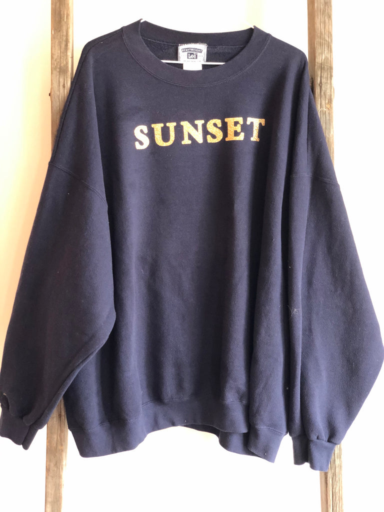 Glitter Gold UPCYCLED Sunset Sweatshirts