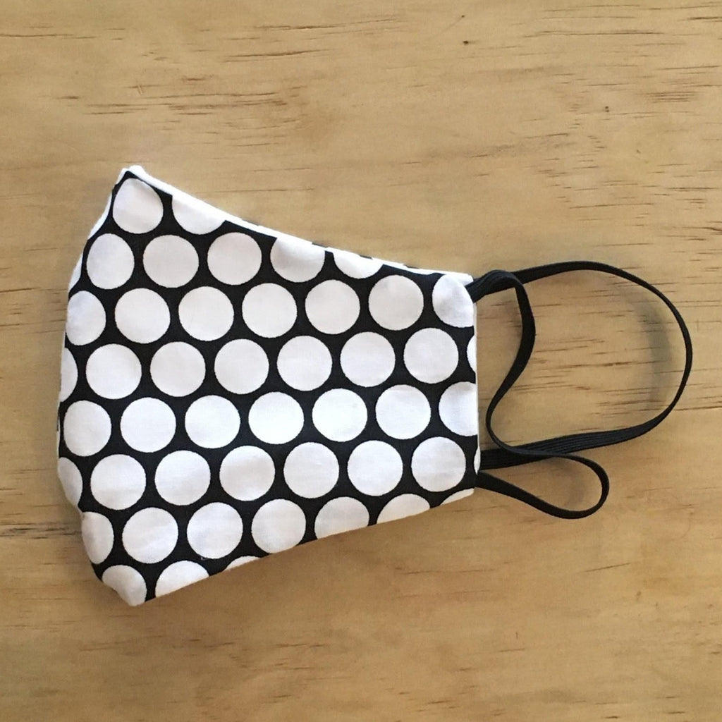 Vintage Cotton Mask With Filter Pocket: Bubble Pattern