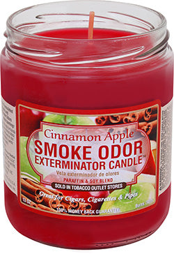 Smoke Odor Exterminator Candle - Cinnamon Apple