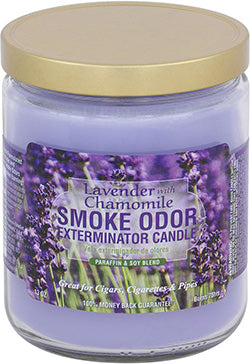Smoke Odor Exterminator Candle - Lavender with Chamoline