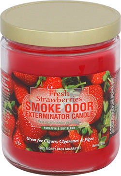 Smoke Odor Exterminator Candle - Fresh Strawberries