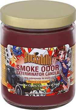 Smoke Odor Exterminator Candle - Rockabilly