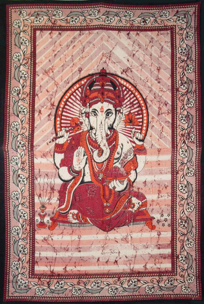Ganesha Cotton Tapestry - 55''x85''