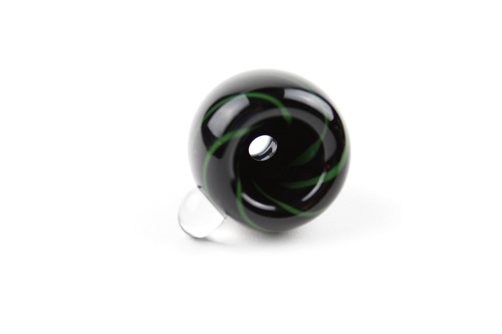 14mm Black/Green Swirl Slide