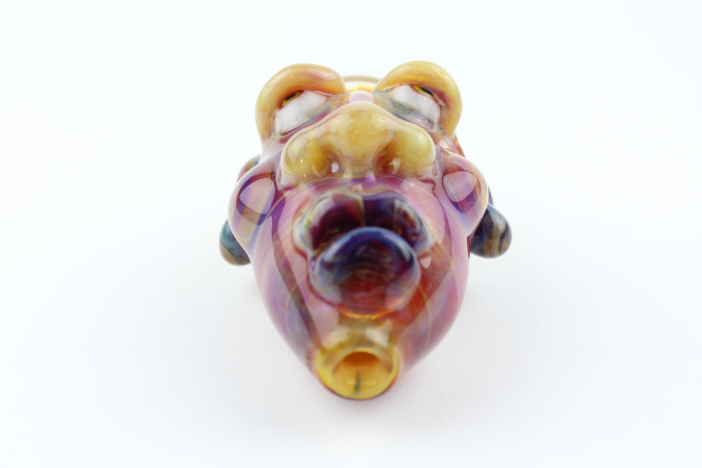 Amber Purple Brainiac Handpipe