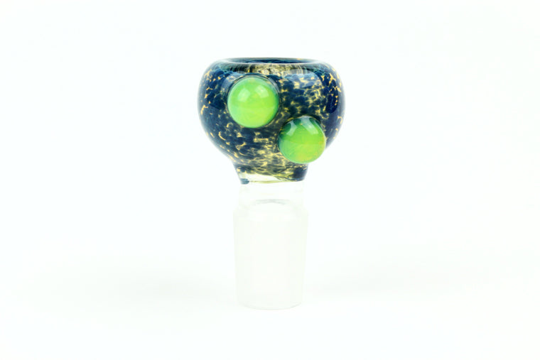 18mm Deep Blue Slide w/ Slyme Dots