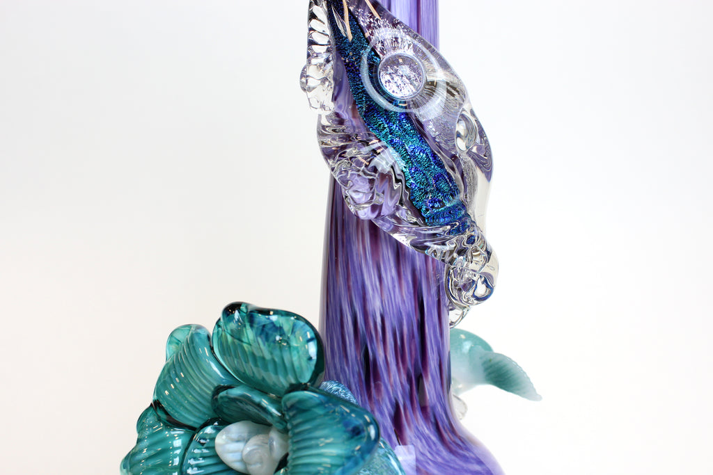 Noble Glass - Dichro Flower - Enchanted Purple