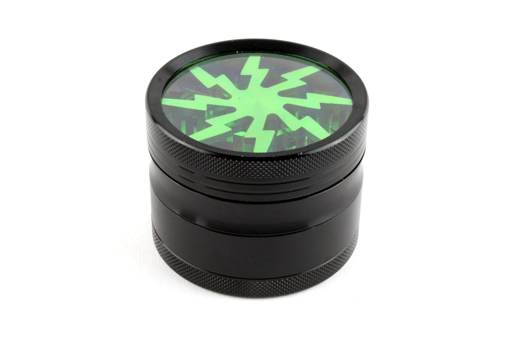 Clear Top Lightning Bolt Grinder (More Colors)