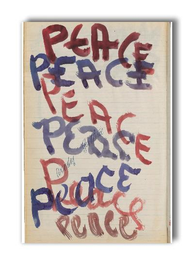 """Peace"" artwork - 2"" x 3"" magnet"