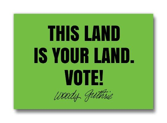 "This Land Is Your Land - 2"" x 3"" magnet"