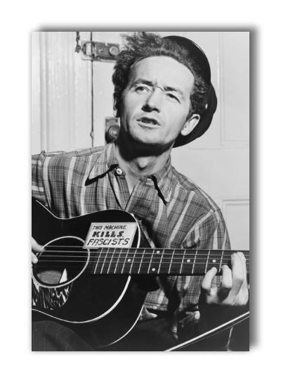 "Woody Guthrie photograph - 2"" x 3"" magnet"