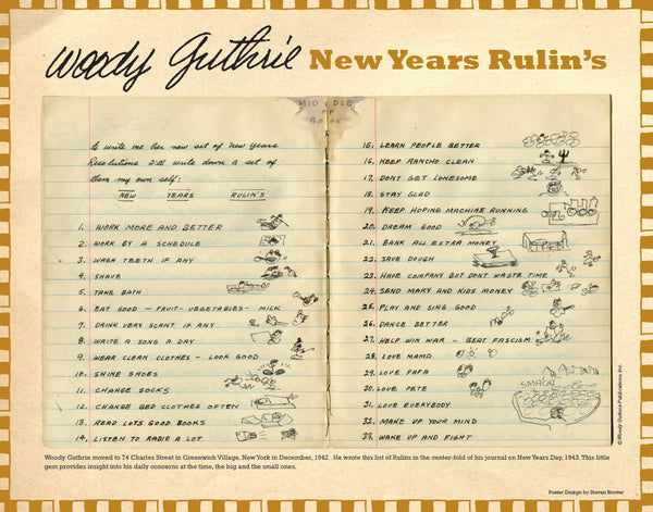 Woody Guthrie's New Years Rulin's - NEW!