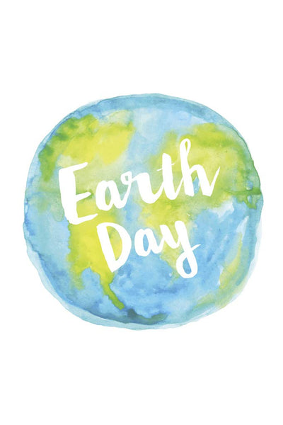 Earth Day Watercolor Go Green Conservation Environmental Poster 12x18 Inch