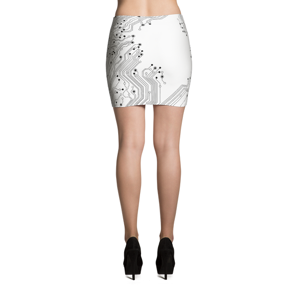 Circuit Board Mini Skirt by GearX