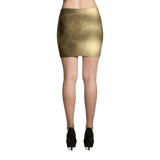 Golden Mini Skirt by GearX