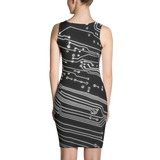 Circuit Board Fitted Dress by GearX