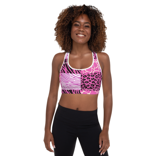 Pink Afriq Padded Sports Bra by GearX