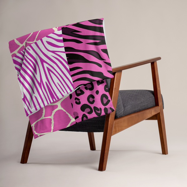 Pink Afriq Throw Blanket by GearX