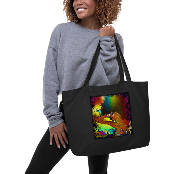 Trippy Sista Large Organic Tote by GearX